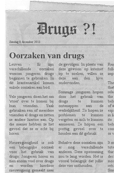 gevolgen van drugs